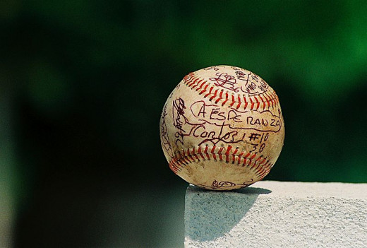 Sports balls are popular collectibles.