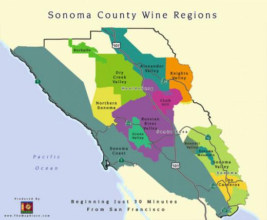 Sonoma wine regions