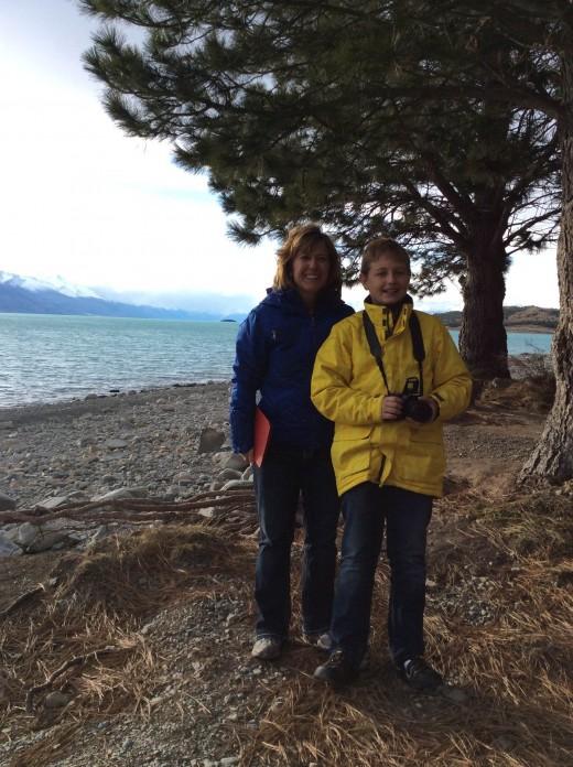 My son and I at Lake Pukaki.  Gorgeous!