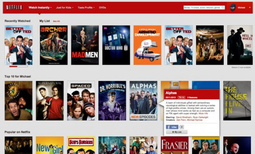 Netflix Instant library- thousands of films and TV series available to stream instantly - Part 1