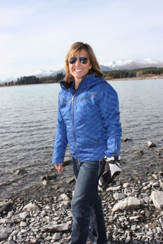 Skipping rocks at this Lake are awesome - all the perfect flat kinds!