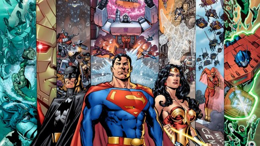 Superman and Transformers team-up someday?