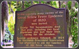 Savannah Yellow Fever Epidemic 1820