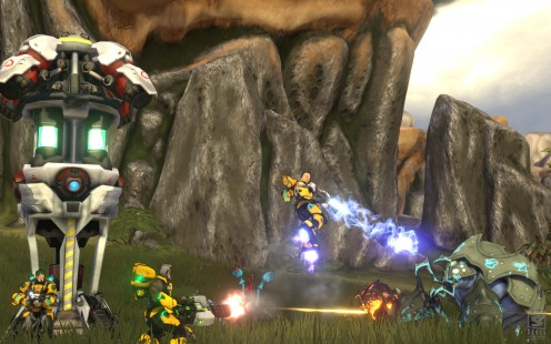 Firefall's method of farming: Thumper!