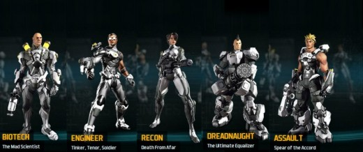 Starting Classes Of Firefall
