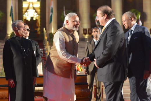 Nawaz Sharif at Modi's Inauguration