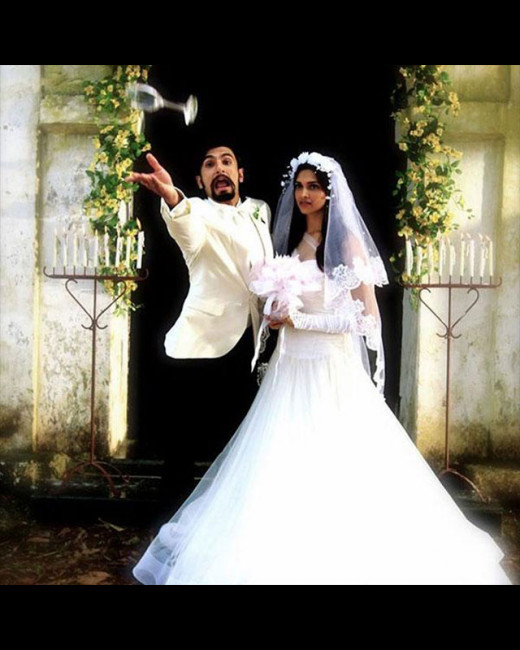 Bollywood's most loved couple, Ranveer Singh and Deepika Padukone are finally married but only screen! Here's a leaked picture of the two from Homi Adajania's much awaited film Finding Fanny.