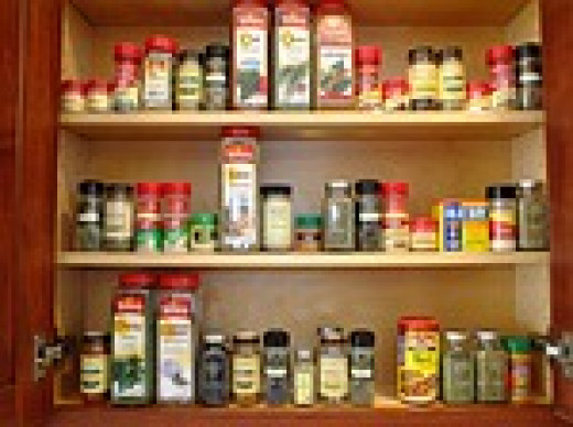 A well-stocked kitchen has a variety of spices and herbs