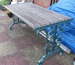 Revamped Garden Furniture; Table, ....