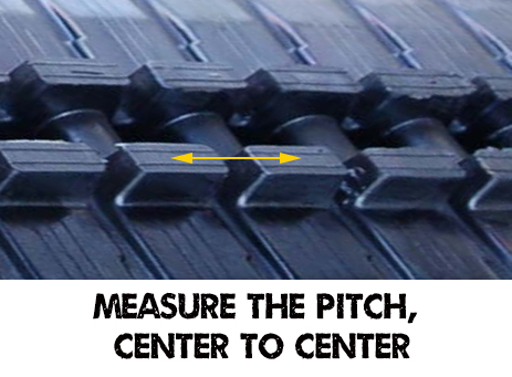Measure the pitch of your rubber tracks
