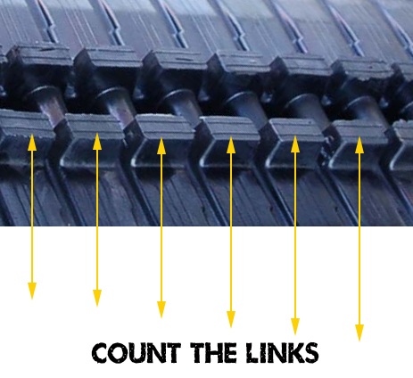 Count the links of your rubber tracks