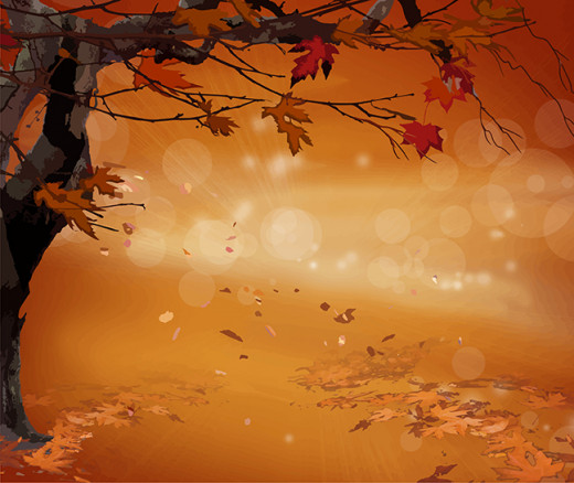 Vector image of fall, created by Denise McGill.