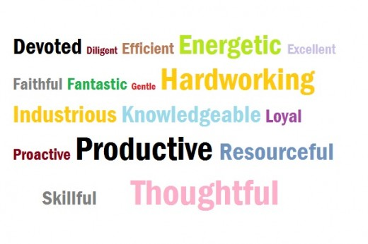 Words ...  Words To Describe Yourself In A Resume