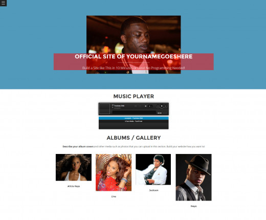 Another great website design for musicians