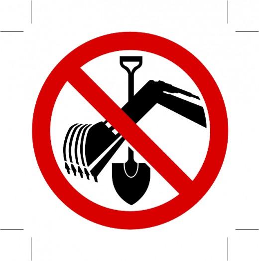 No Digging!