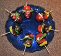 Tomato, Basil, and Goat Cheese Vegetable Skewers