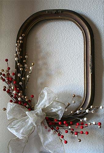 Blank old frame with decoratives