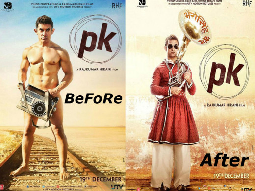 After the much hyped first nude poster of PK, the makers have revealed the second poster of the film where Aamir is fully dressed this time.