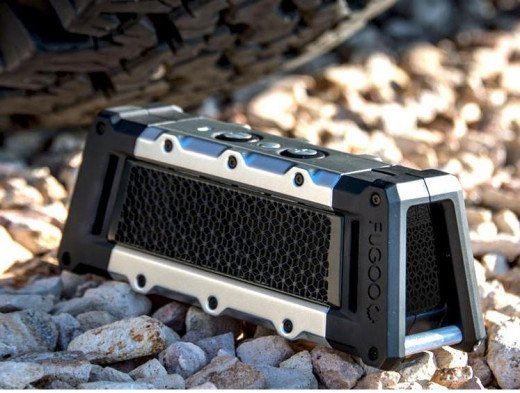 Small but good. This is a miil-spec rugged speaker that you can drop, run over, and use during winter in a snow blizzard.