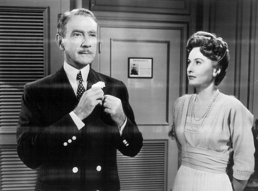 Clifton Webb and Barbara Stanwyck in the soap opera version of Titanic