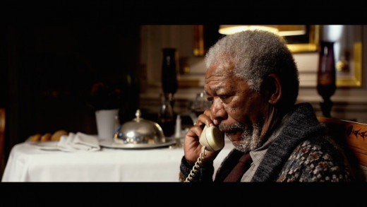 Morgan Freeman as Professor Norman in the movie Lucy