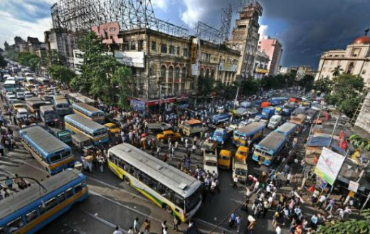 Chowringhee,one of the busiest locations of Kolkata