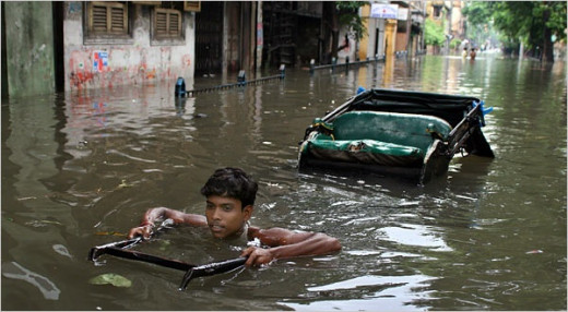 Kolkata often turns primitive during the monsoons