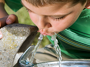 If you must drink from a public fountain, holding your mouth well away from the spigot may help cut down germ exposure.