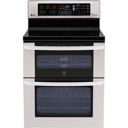 LG Freestanding Electric Double Oven with Infrared Broiler
