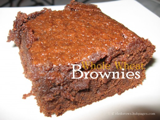 Whole wheat flour, coconut oil, and honey team up again in these incredibly moist and dense cake-like brownies.