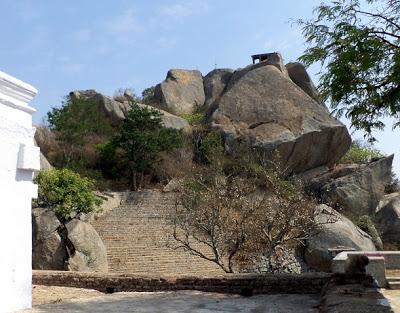 Garuda Shrine Above Yognarasimha Temple, Devarayanadurga Near Bangalore