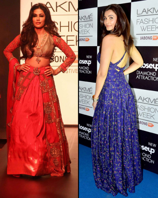 Lakme Fashion Week Winter/Festive 2014 witnesses a fair share of Bollywood tadka with several celebs walking the ramp as show stoppers. We take a look at the 2nd day of the ongoing event.