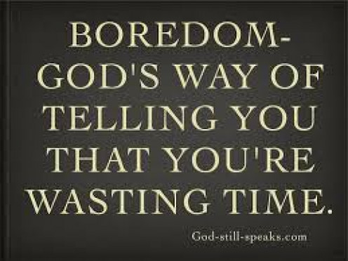 Don't think of boredom.