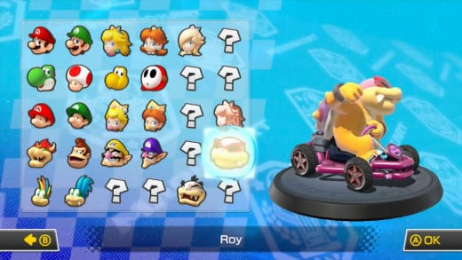 The character roster gradually expands as you win races and collect coins, it's just a slight shame that some of the characters feel like filler...