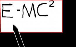 Einstein's famous formula.