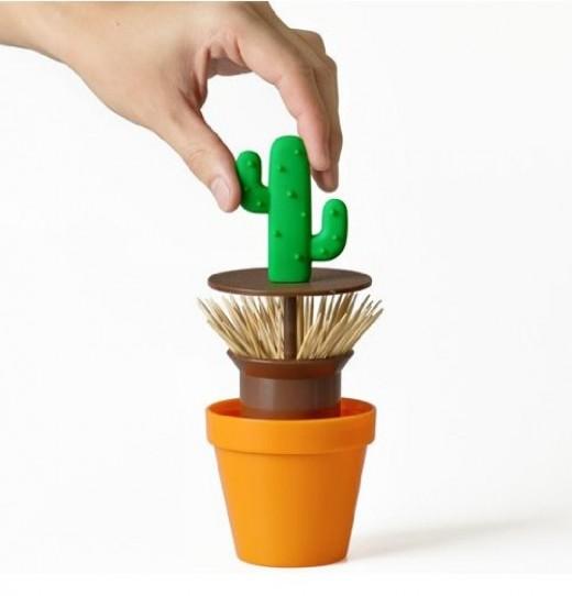 essay cactus toothpick dispenser