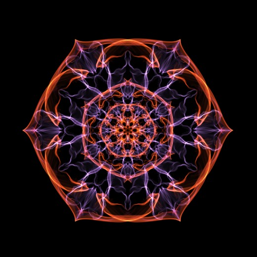Energy Mandala, created using Silk Wave