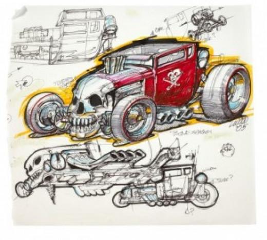 Bone Shaker Sketch