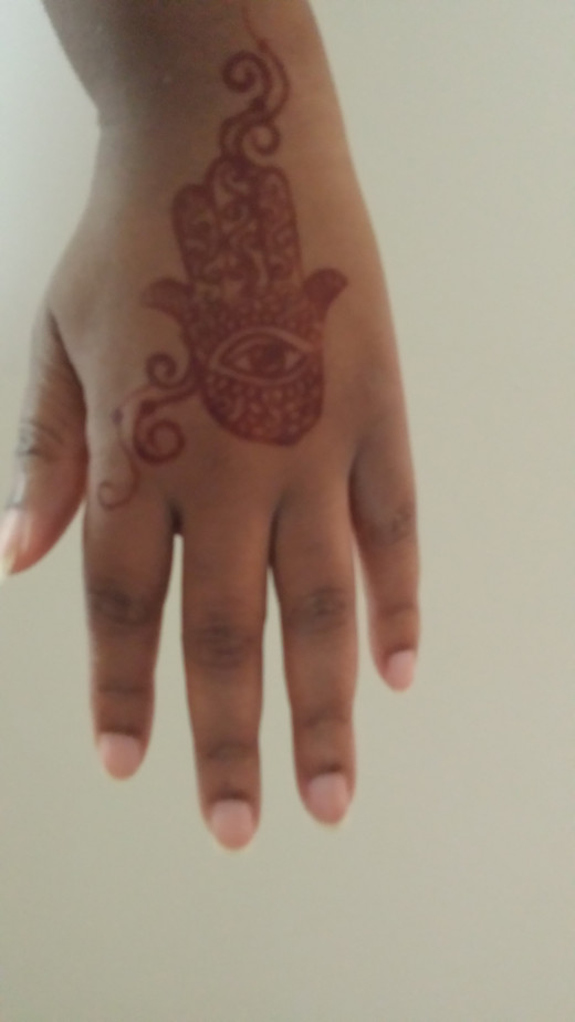 My henna tattoo. Read more about my experience  at