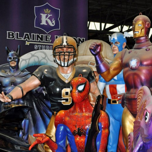 A gathering of superheros...including Drew Brees, of course!