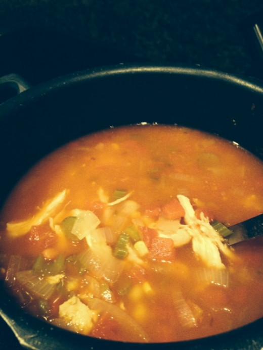 This recipe fills up a pot!
