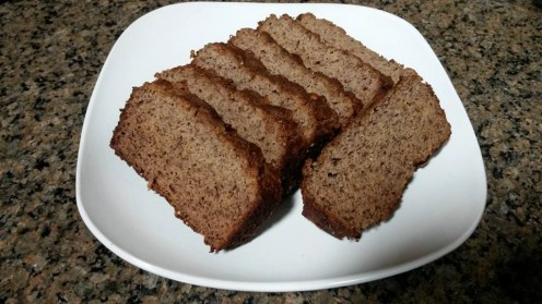 Coconut Flour Recipes - Healthy Banana Bread: Gluten, Lactose, and Sugar Free.