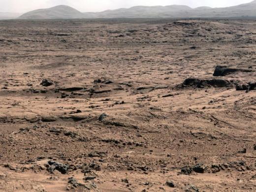 """Location named """"Rocknest"""" on Mars."""