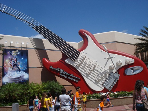 Rock 'n' Roller Coaster at Hollywood Studios. This exhilarating ride takes you from 0 to 60 in seconds with classic Aerosmith music playing while you go through loops, bends, and dips on this inside rollercoaster.