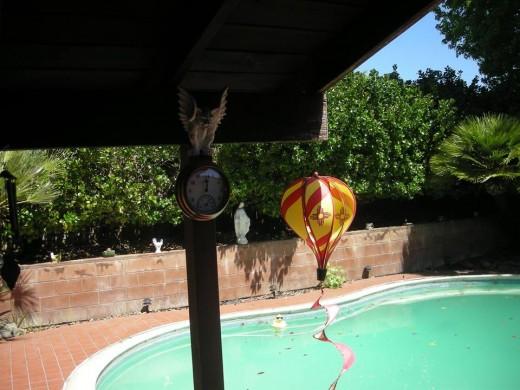 Backyard pool of home being Refinance