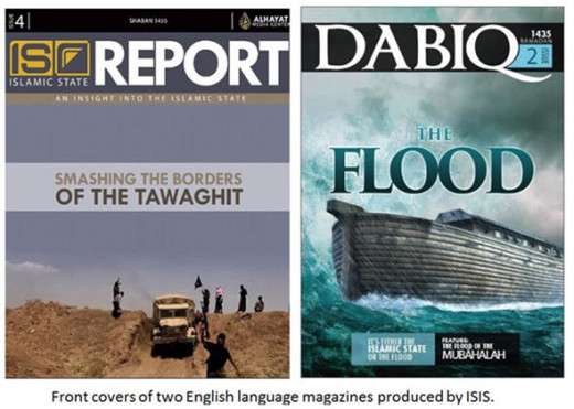 Slick ISIS magazines in English attract