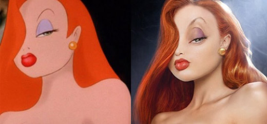Jessica Rabbit with Red Lipstick