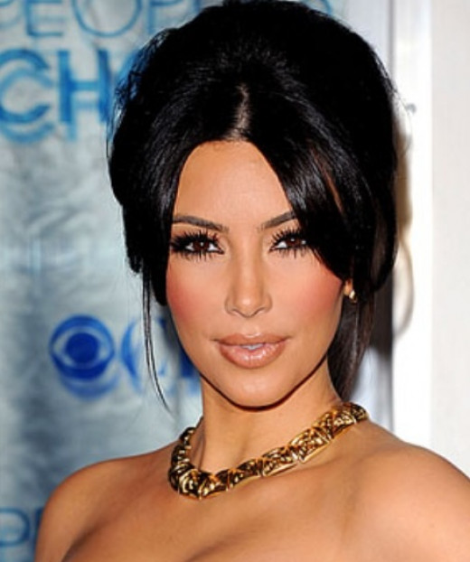 Kim Kardashian and her plump, full lips.