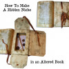 How To Make a Hidden Niche in an Altered Book