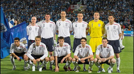 Frank Lampard lining up for England
